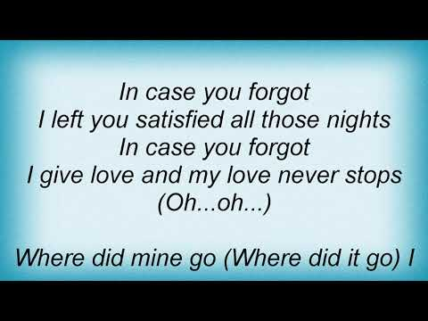Aretha Franklin - In Case You Forgot Lyrics