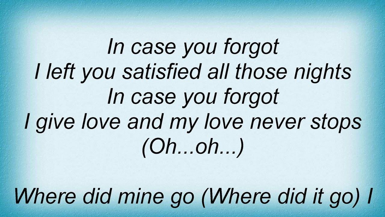 4e0cf9d03d927 Aretha Franklin - In Case You Forgot Lyrics - YouTube
