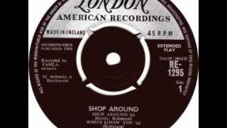 """""""Shop Around"""" by The Miracles ft. Bill """"Smokey"""" Robinson."""