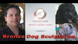 Master Bronze Dog Sculptor creates fine art canine sculptures