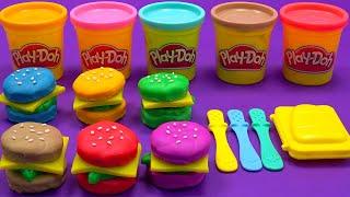 Learn Colors with Hamburgers | Ice Cream,Play Doh | Nursery Rhymes,Baby songs