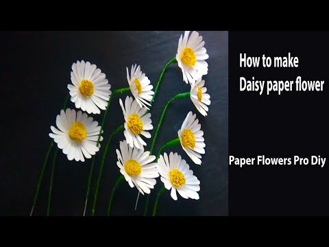 How To Make Daisy Paper Flowers | Daisy Pattern | Diy Flower Craft