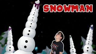 I made a giant snowman in Roblox ⛄