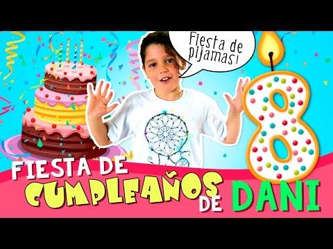 ¡¡Mi FIESTA 🎉  de CUMPLEAÑOS 🎂 !! * FIESTA de PIJAMAS de Daniela con regalos, tarta y juegos!!