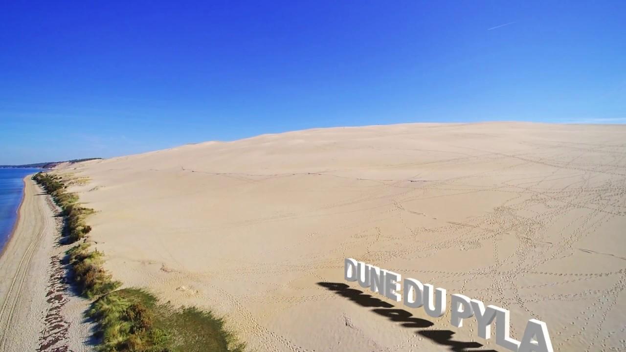 drone photo vid o gironde dune du pilat pyla youtube. Black Bedroom Furniture Sets. Home Design Ideas