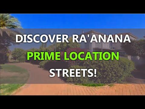 RA'ANANA: TAKE A TOUR TO PRIME LOCATION STREETS NOW!