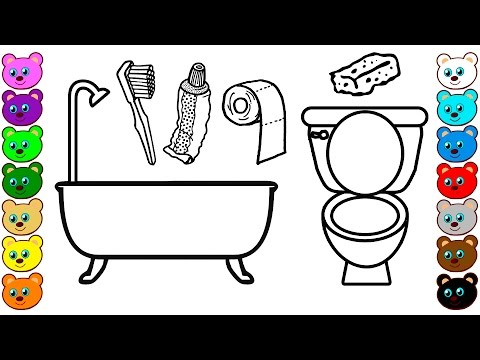 Toilet & Bathroom Tools   Coloring Pages for Kids
