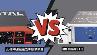 Preamp Shootout (Drums, 8 channels): Behringer ADA8200 Ultragain vs. RME OctaMic XTC