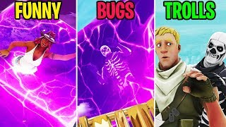 Noob Gets Trapped INSIDE the Cube! FUNNY vs BUGS vs TROLLS - Fortnite Funny Moments