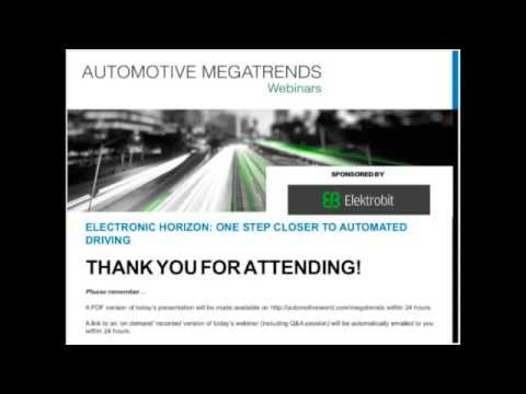 Webinar Electronic horizon - One step closer to automated driving