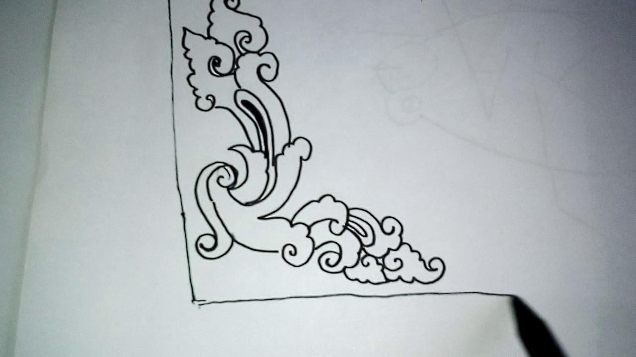 Sketsa Hiasan Pinggir Kaligrafi Bunga Kata Kata Bijak