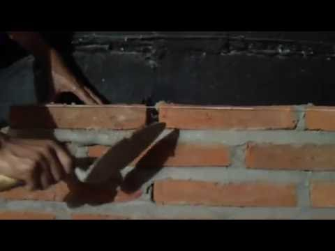 Como se hace una pared de ladrillos doovi - Como se hace una pared de ladrillos ...