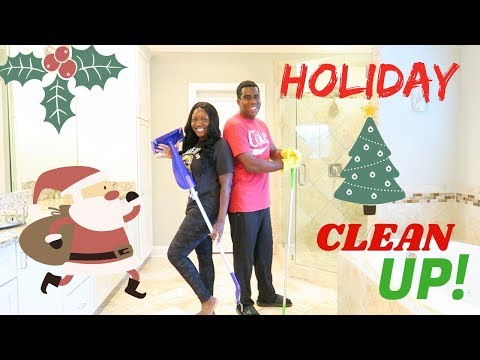 HUSBAND & WIFE🎁HOLIDAY CLEAN UP‼️#holidayprep #cleanwithus #thepropertybrother