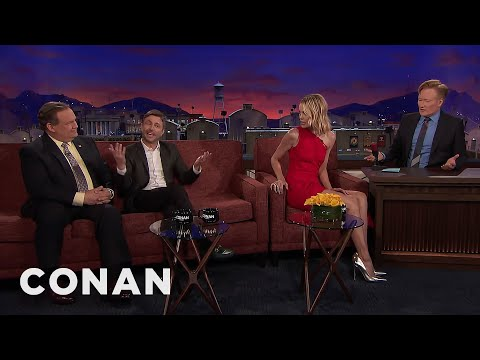 Chris Hardwick Interrupts Leslie Bibb's    CONAN on TBS