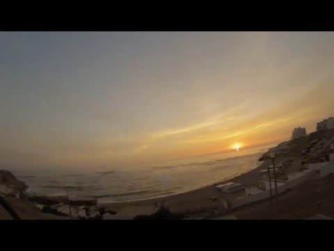 Playa Senoritas, Punta Hermosa, Peru- Sunset Time Lapse