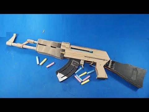 How to make AK 47 Gun - From Cardboard Smart TV box CREATIVE FUN-[Piece of Paper]