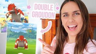 DOUBLE GROUDON RAID! Pokémon GO | ZoeTwoDots