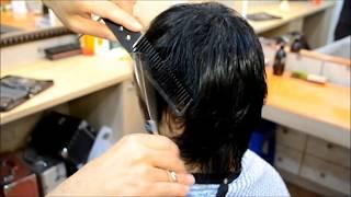 thinning haircut-ASMR