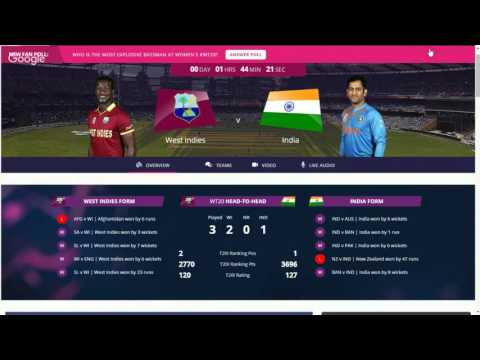 highlights India v West Indies semi final live cricket match T20  March 30, 2016