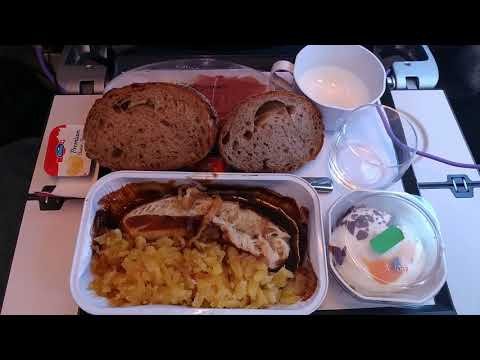 full flight edelweiss air a340-300 from zurich to las vegas new cabin