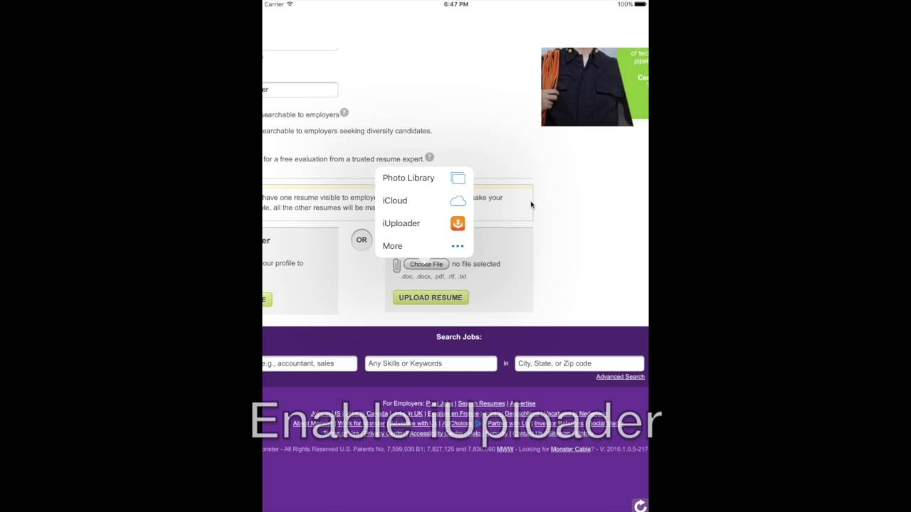 Iuploader How To Upload Files From Ipad And Iphone Youtube