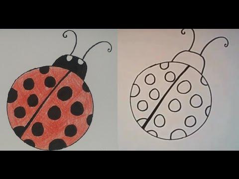 Ladybug drawings for kids - photo#41