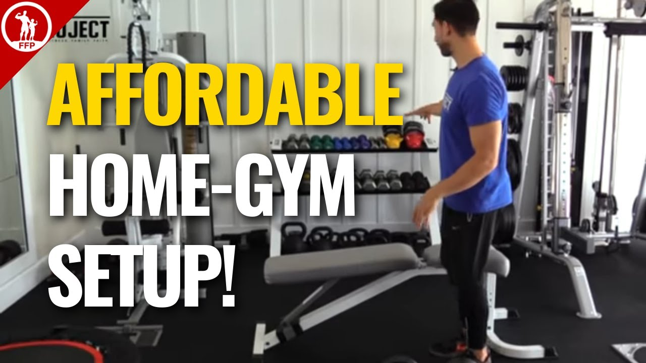 The simple affordable home gym setup youtube