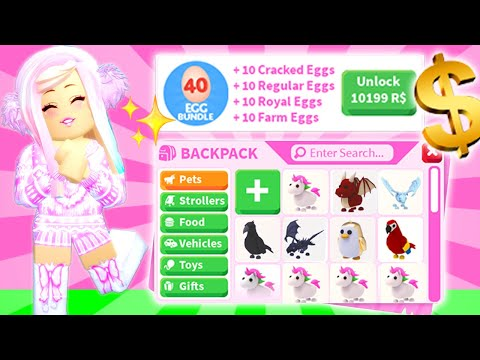 I Bought THE MOST EXPENSIVE Egg Bundle In Adopt Me *10,199 ROBUX*... Is It Worth It? Roblox