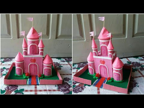 DIY || Princess Castle || Castle making with extra boxes & tissue roll ||
