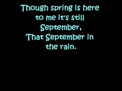 Julie London~September In the Rain lyrics