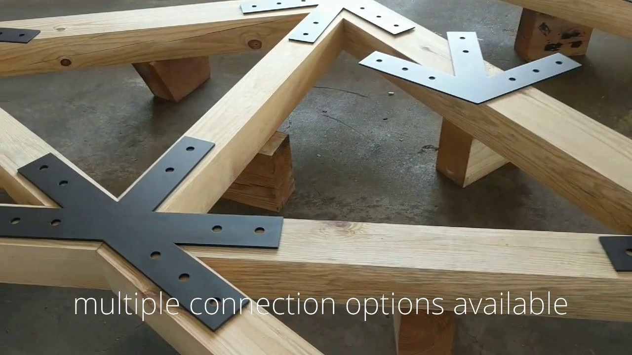 Scissor Timber Trusses With Steel Plate Connections Youtube