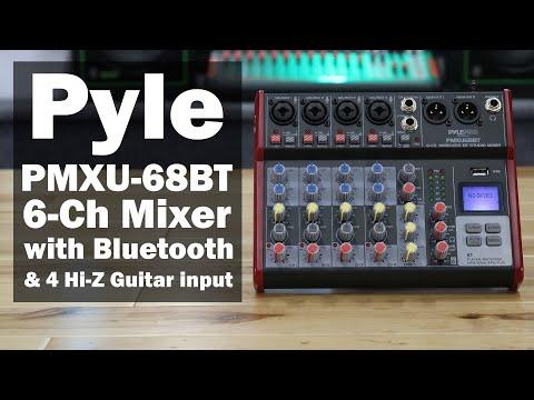 Pyle PMXU68BT audio Mixer with 4 Hi-Z inputs for your Guitars WOW.