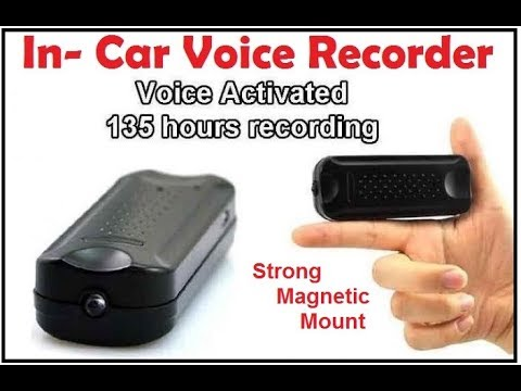 Magnetic In Car Voice Recorder Audio Sample Youtube