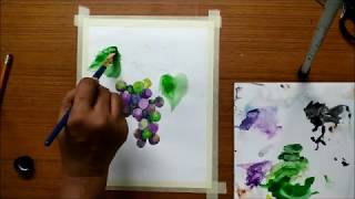Bunch of Grapes in Watercolors | Simple Drawing and Painting Lesson in Watercolors for Beginners