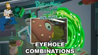 SHOCKING EYEHOLE COMBINATIONS!   Rick and Morty Simulator: Virtual Rick-Ality