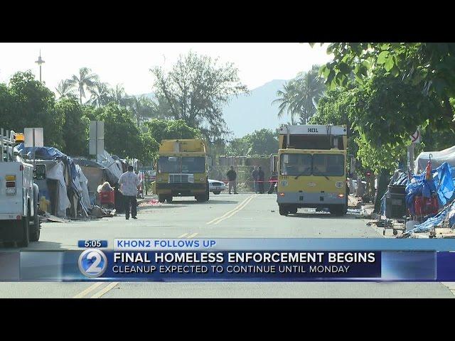 Kakaako Makai homeless sweeps to wrap up Monday
