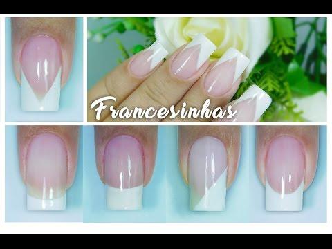 5 Modelos de Francesinhas e 5 Maneiras Diferentes de Fazer | francesa | French nail | Aline Makelyne