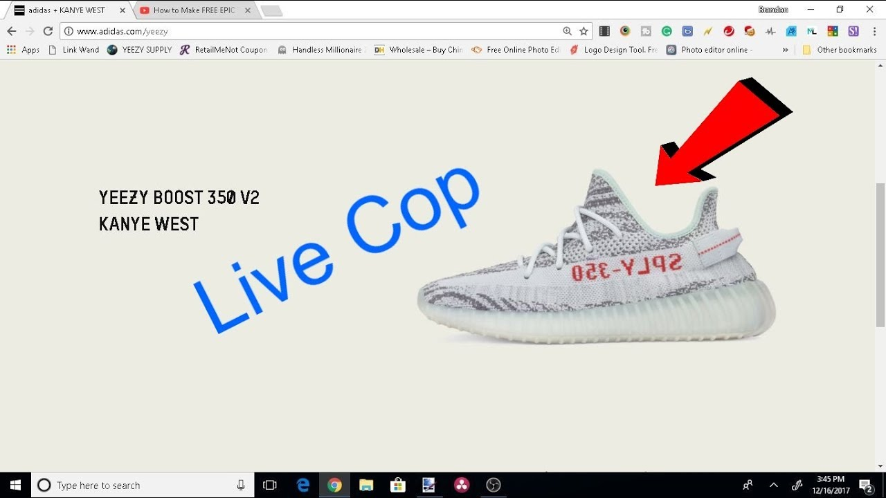 e85eee55f Live Cop Yeezy 350 Boost V2 Blue Tints! - YouTube