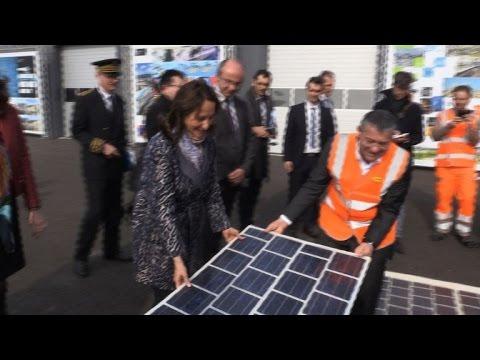 Ségolène Royal inaugure la route solaire à Marseille