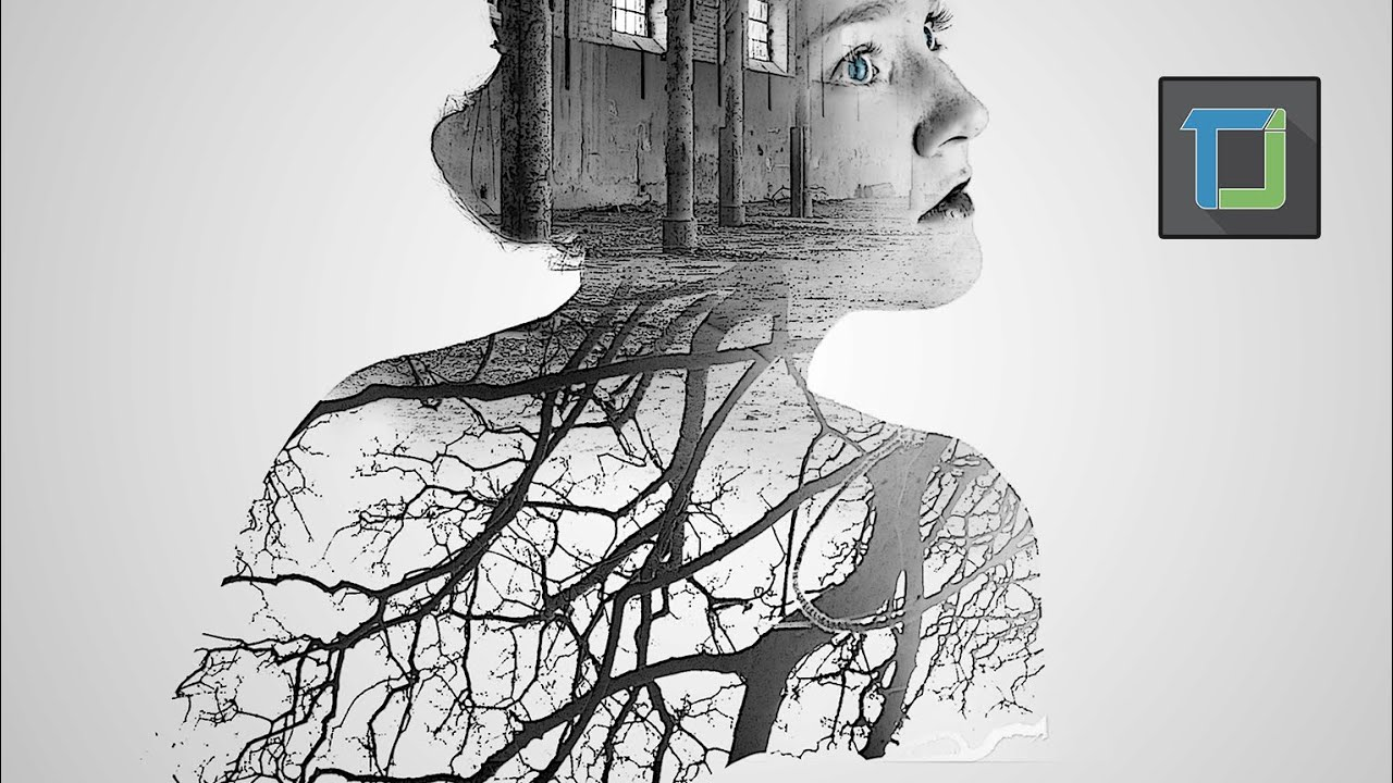 how to create double exposure in photoshop tutorial | photo effect ...