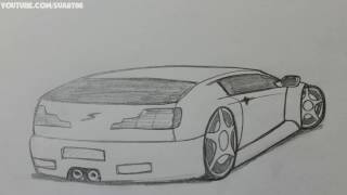 How to draw Sports Car | Draw Sports Car