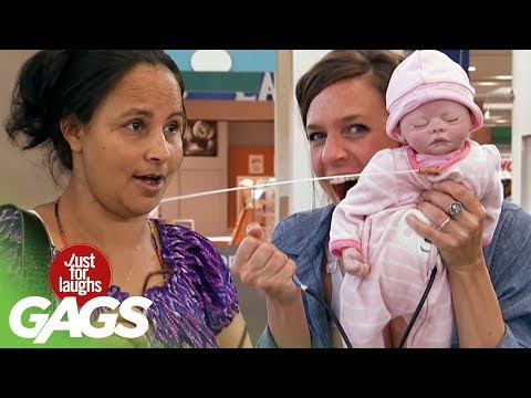 Public Breastfeeding Prank! - Just For Laughs Gags