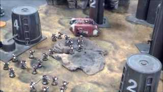 Blood Ravens vs Eldar 01 Battle Report (Mesa Refinery)