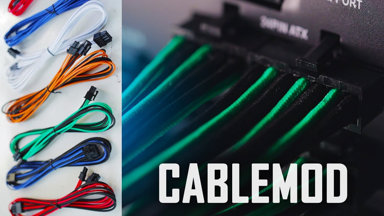 CableMod FULL Sleeved PSU Cable Set | Color your build! - YouTube