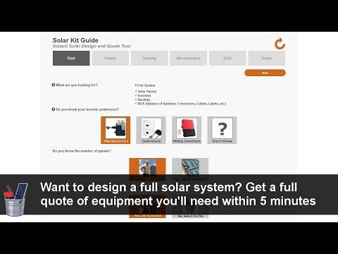 Solar Kit Guide Tutorial : Instant Solar Design And Quote Tool For PV Solar Design | RENVU