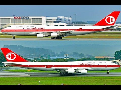 4K ATC Malaysia Airlines Retro Livery Boeing 747 9M-MPP Takeoff Landing SZB KLIA KUL WMKK WMSA B747