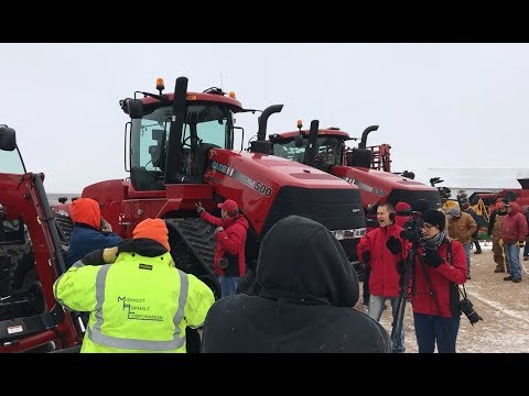 CaseIH 500 and 550 Quad Tracs Sold Yesterday on Barrett, MN Farm Auction