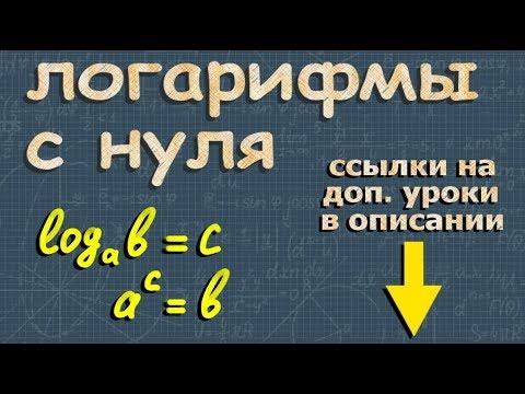 ЛОГАРИФМЫ С НУЛЯ свойства логарифмов натуральный логарифм