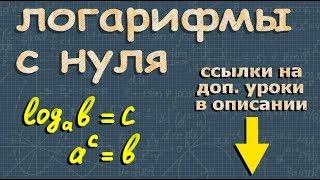 ЛОГАРИФМЫ с нуля алгебра 10 11 класс