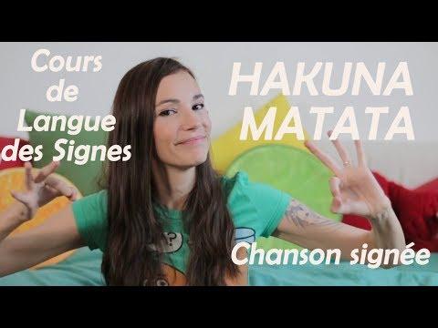 Cours LSF chanson signée Hakuna Matata disney langue des signes